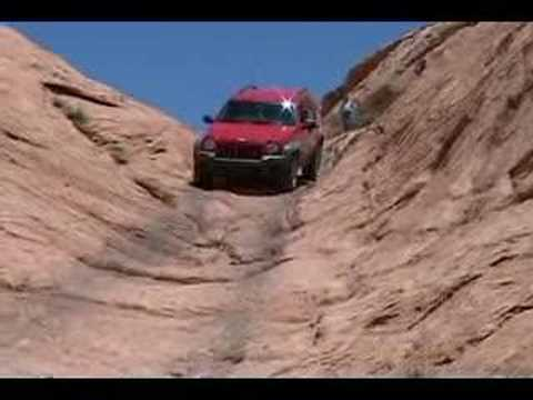 Jeep Liberty on Hole in the Rock trail Vid #5 Chute